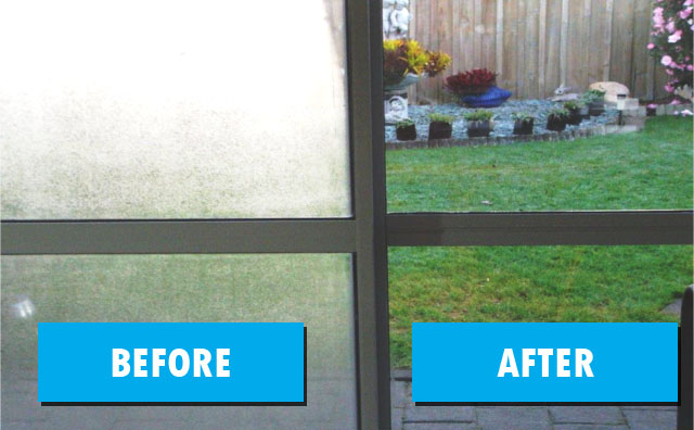 Fogged Glass: Before and After