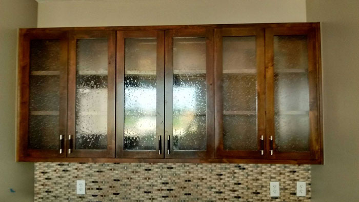 how add glass confessions of serial adding it kitchen a to do doors cabinet