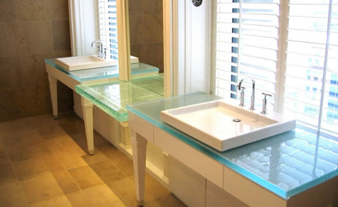 Merveilleux Glass Bathroom Countertop